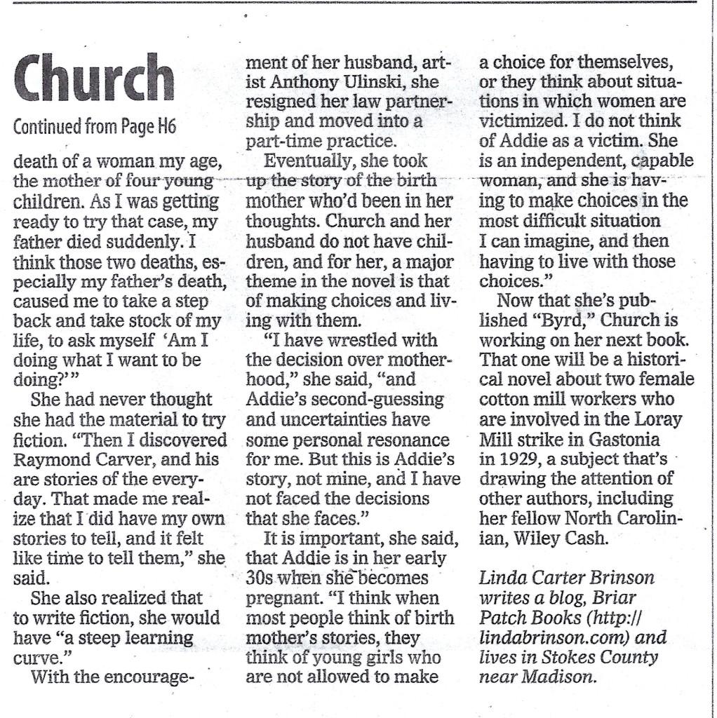 Greensboro article, p 2